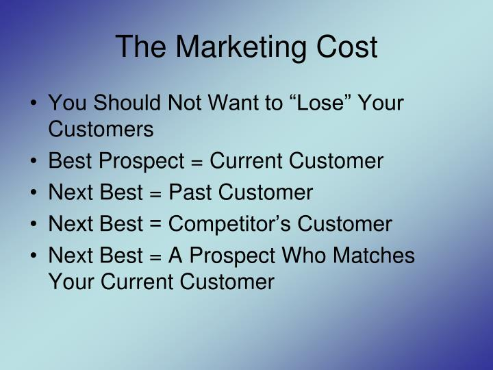 The Marketing Cost
