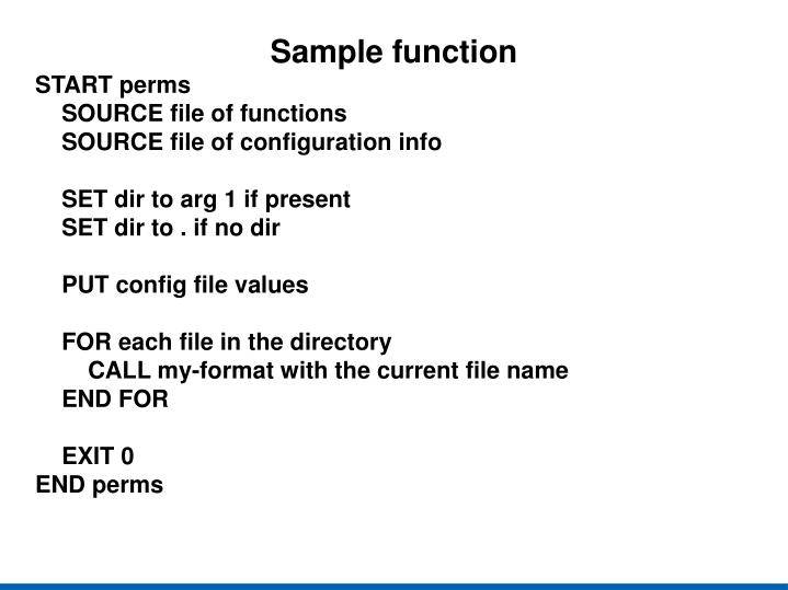Sample function