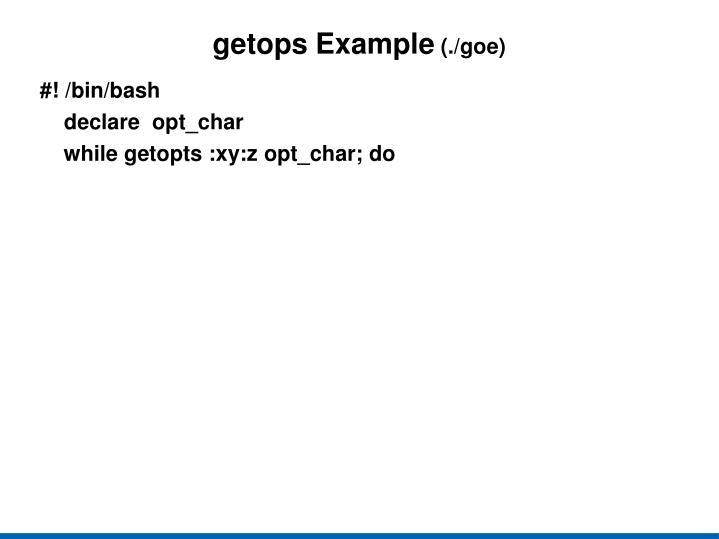 getops
