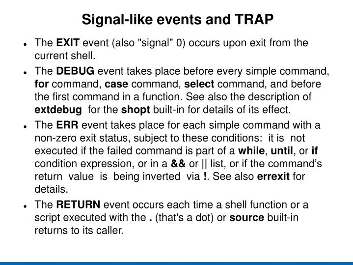 Signal-like events and TRAP