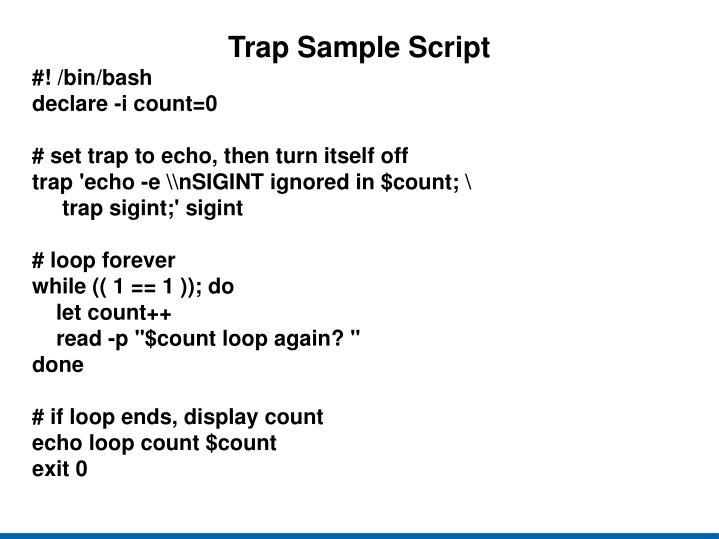 Trap Sample Script