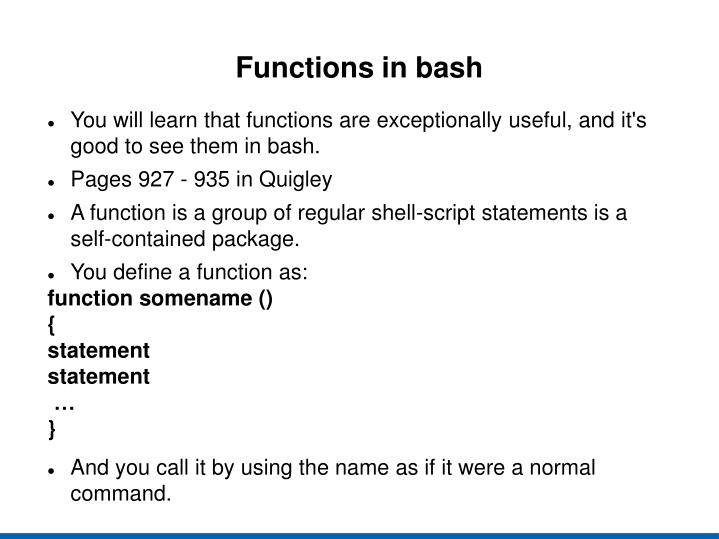 Functions in