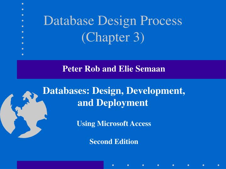 Database design process chapter 3