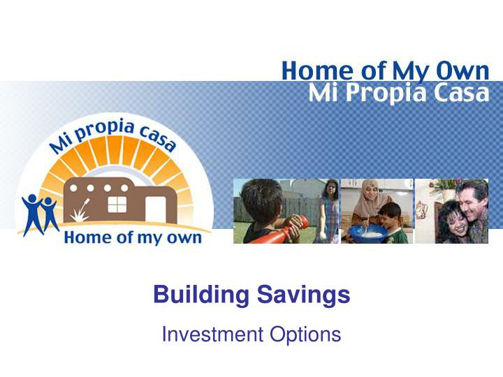 Building Savings