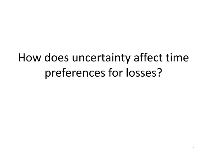 How does uncertainty affect