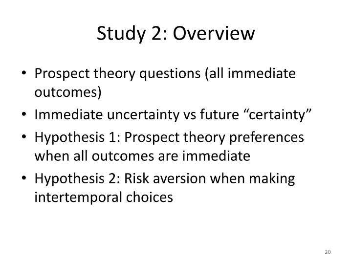 Study 2: Overview