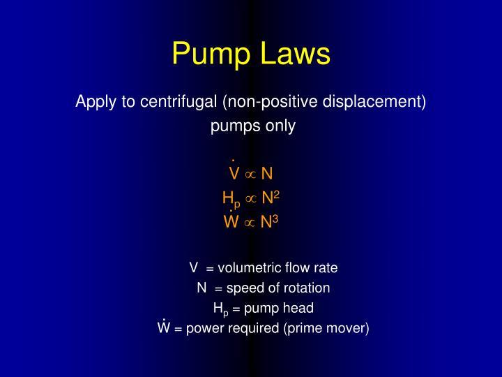 Pump Laws