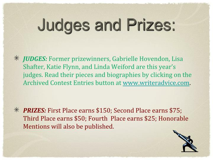 Judges and Prizes: