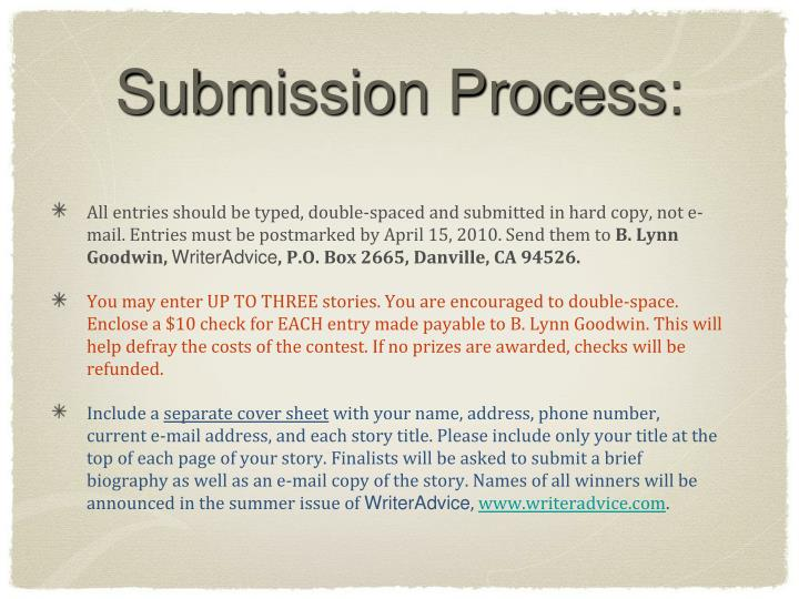 Submission Process: