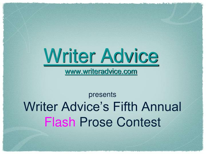 Writer advice www writeradvice com