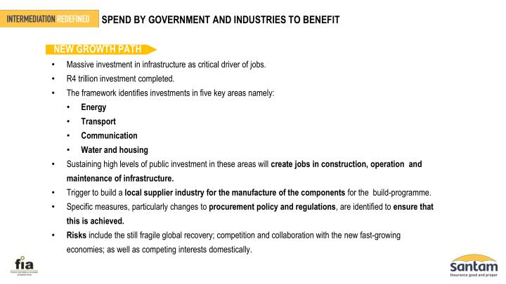 SPEND BY GOVERNMENT AND INDUSTRIES TO BENEFIT