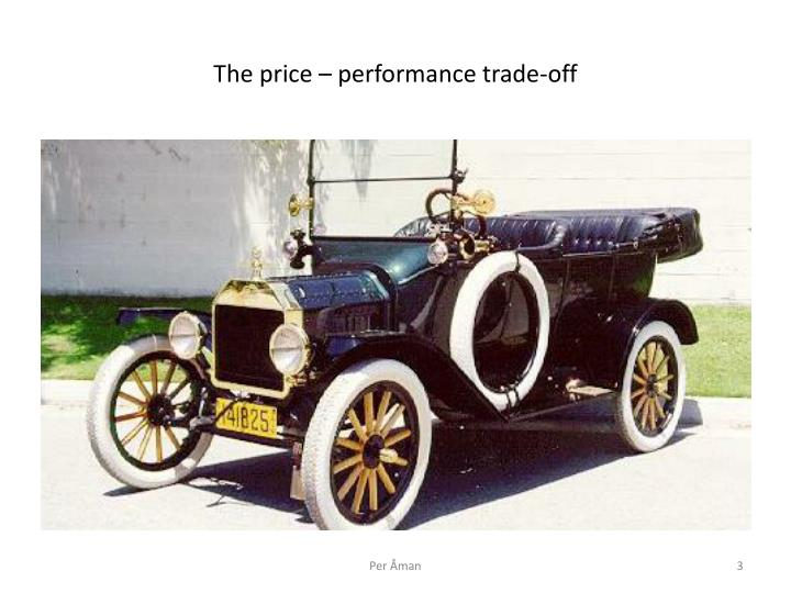 The price – performance trade-off