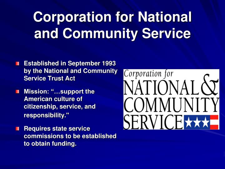 Corporation for National