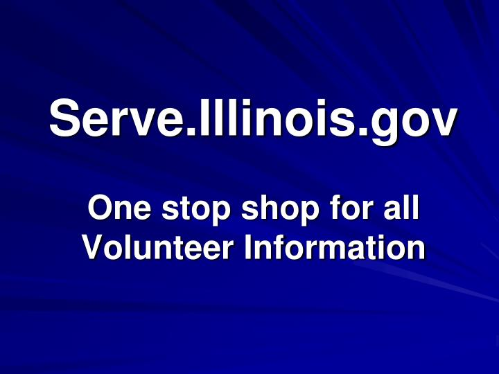 Serve.Illinois.gov