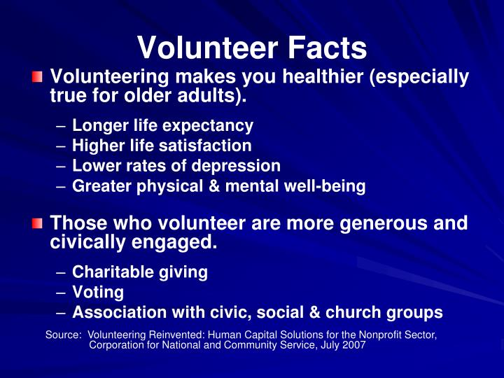 Volunteer Facts