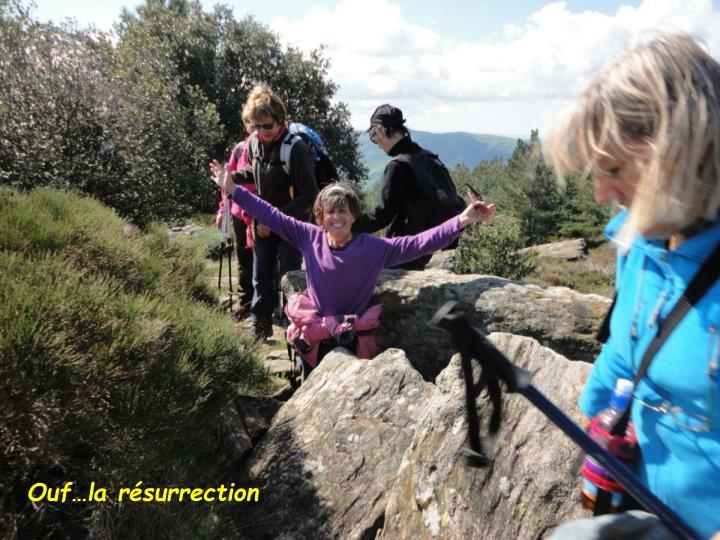 Ouf…la résurrection