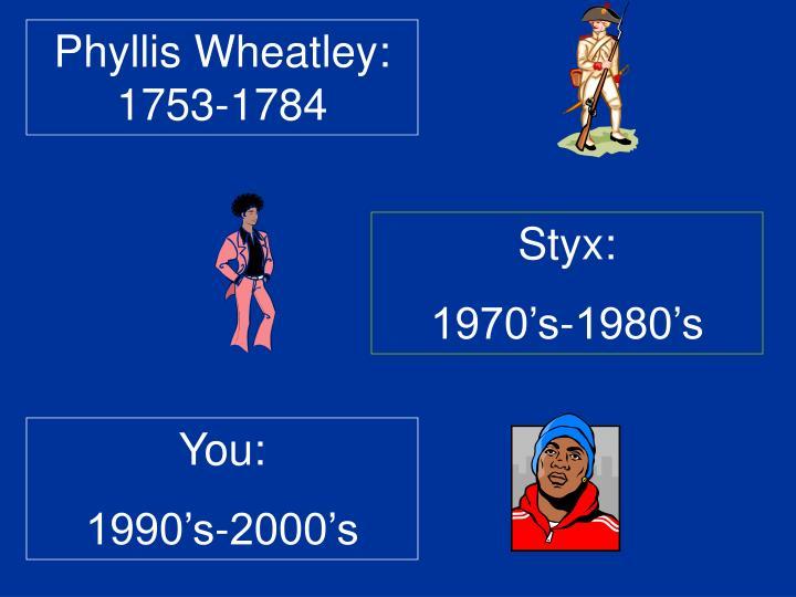 Phyllis Wheatley: 1753-1784