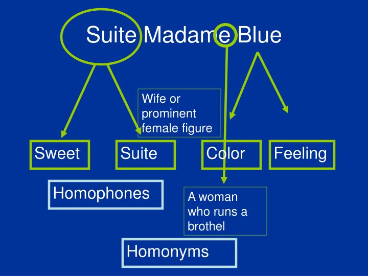 Suite Madame Blue