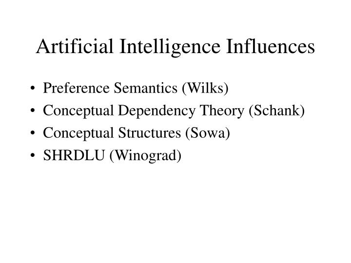 Artificial Intelligence Influences