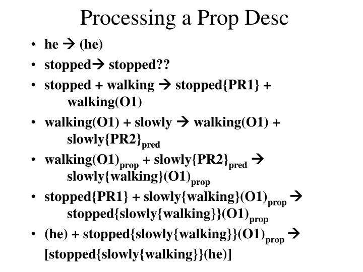 Processing a Prop Desc
