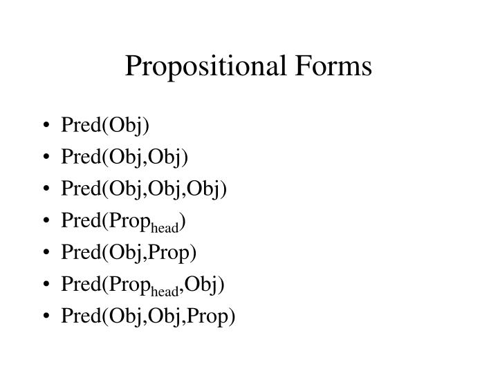 Propositional Forms