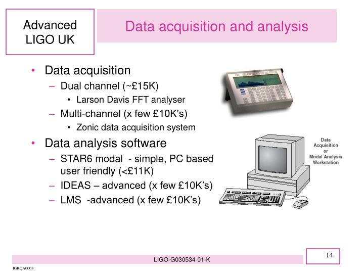 Data acquisition and analysis