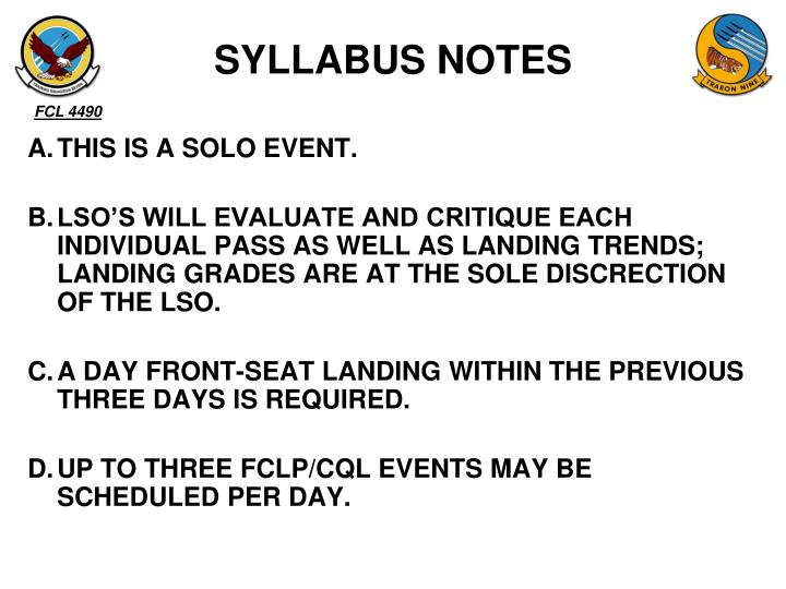 SYLLABUS NOTES