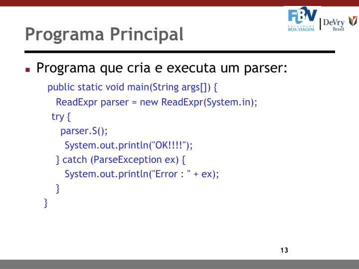 Programa Principal