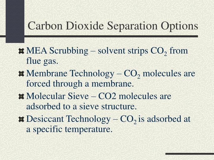 Carbon Dioxide Separation Options