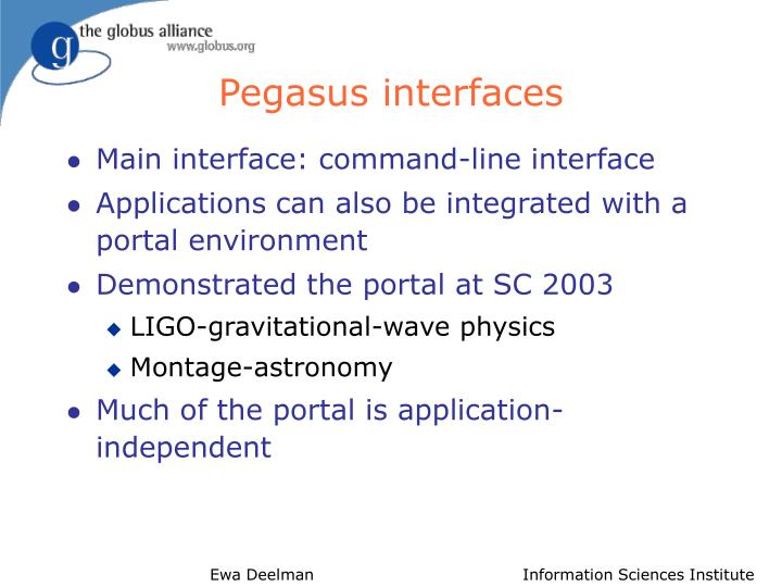 Pegasus interfaces