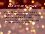 god saves us for peace1