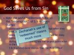 god saves us from sin1