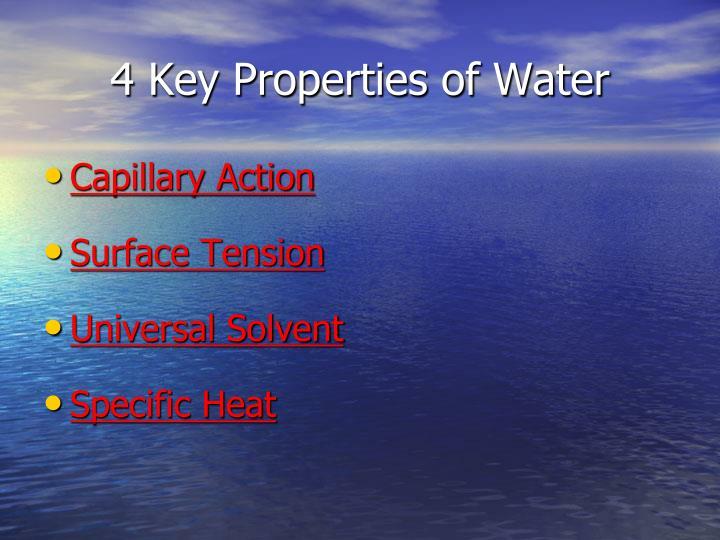 4 Key Properties of Water