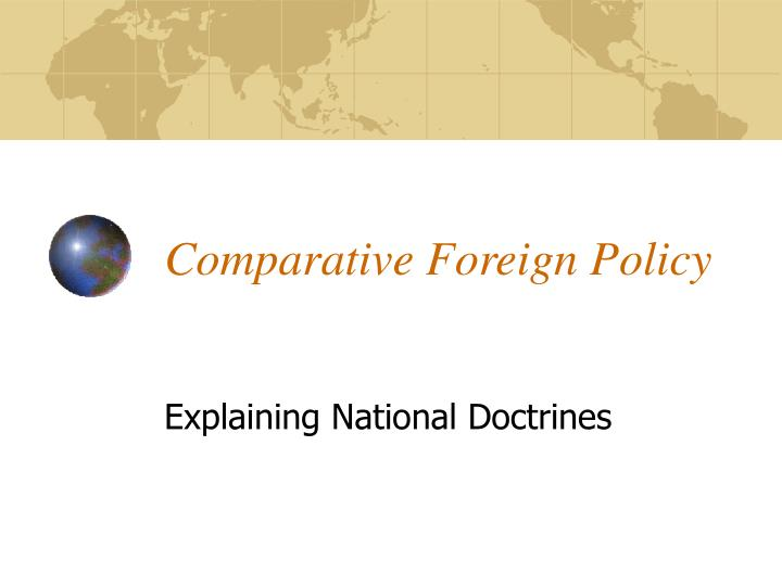 Comparative foreign policy