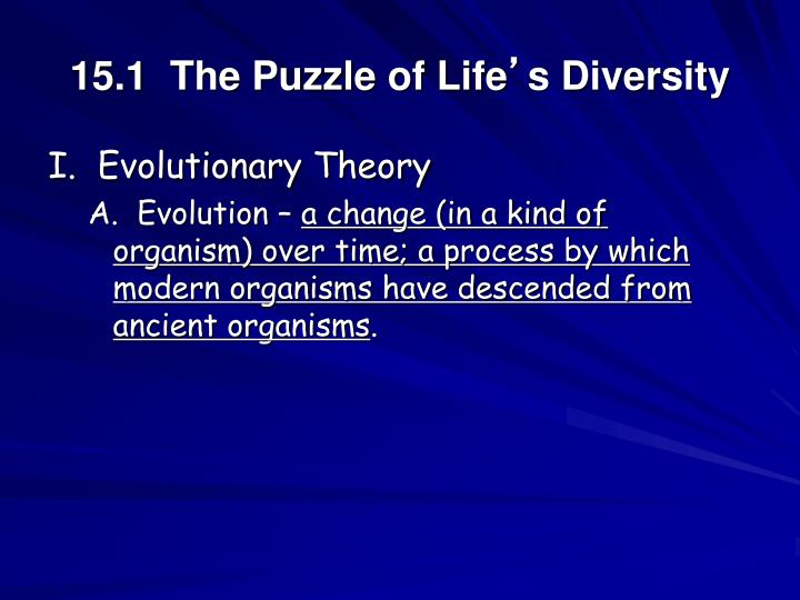 15 1 the puzzle of life s diversity