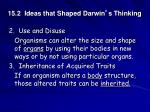 15 2 ideas that shaped darwin s thinking3