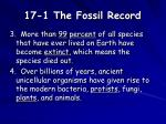 17 1 the fossil record2