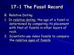 17 1 the fossil record4