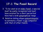 17 1 the fossil record5