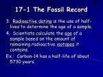 17 1 the fossil record7