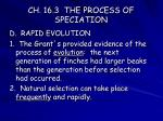 ch 16 3 the process of speciation12