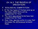 ch 16 3 the process of speciation18