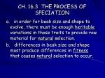 ch 16 3 the process of speciation8