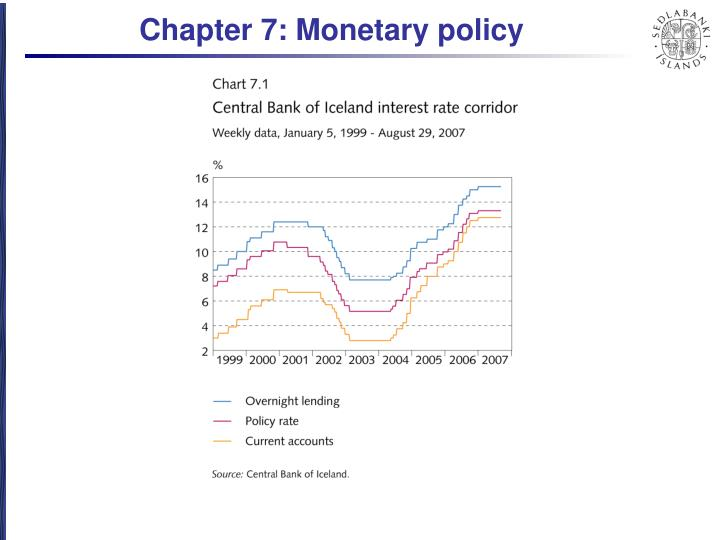 Chapter 7: Monetary policy