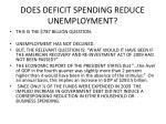 does deficit spending reduce unemployment