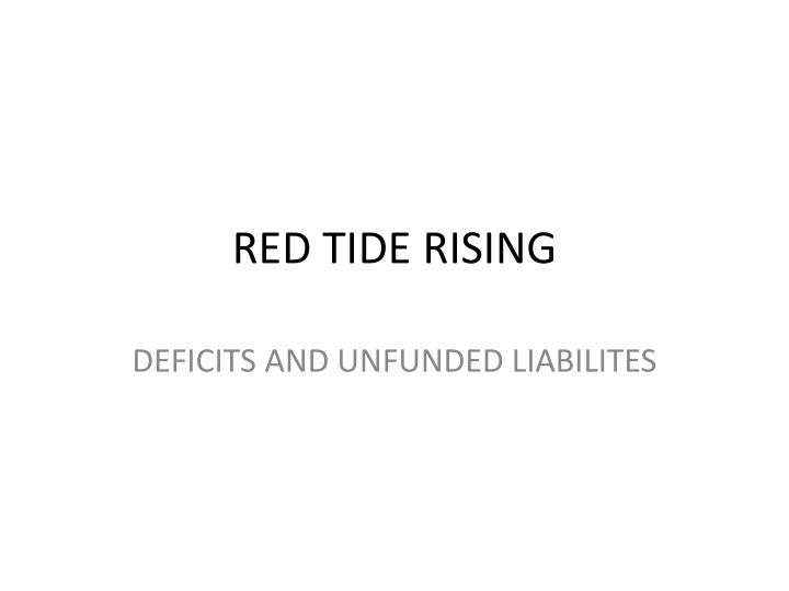 Red tide rising