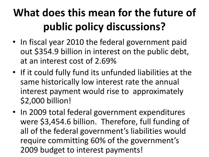 What does this mean for the future of public policy discussions?