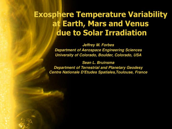 Exosphere Temperature Variability