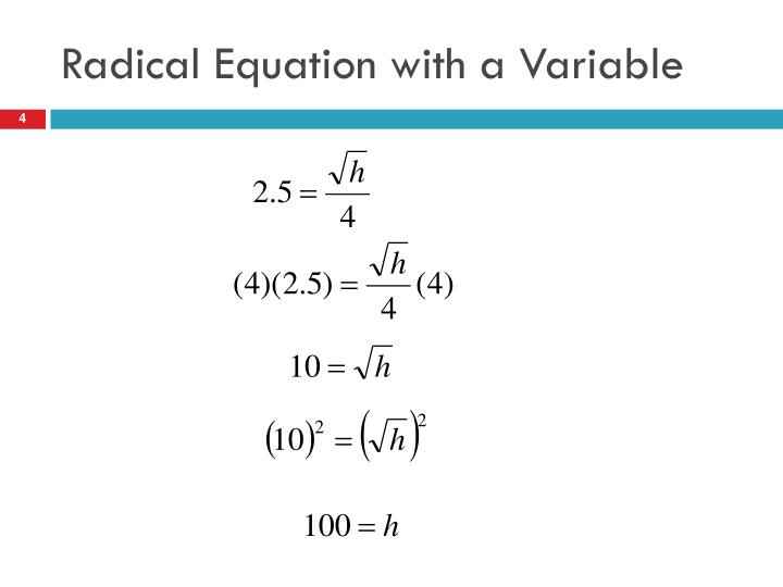 Radical Equation with a Variable
