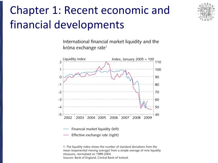 Chapter 1 recent economic and financial developments